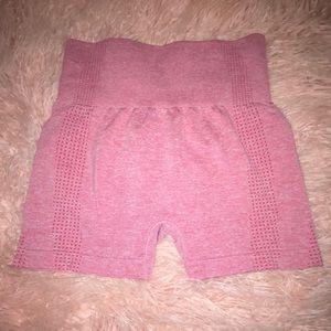 NEW High waisted Pink Biker Shorts